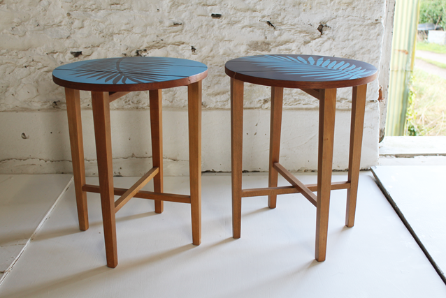 colorful-furniture-retro-blue-side-tables-by-lucy-turner
