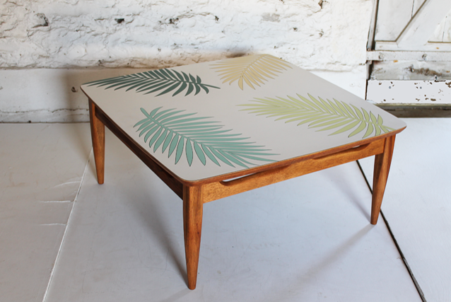 ... Palm Leaf Coffee Table Formica Colourful Furniture By  ...
