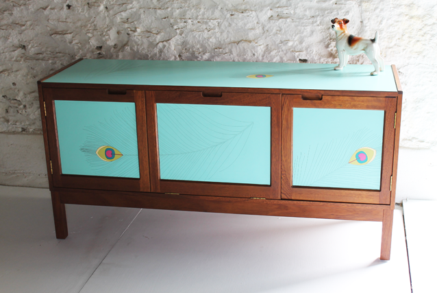 Charming ... Colorful Peacock Formica Furniture By Lucy Turner ...