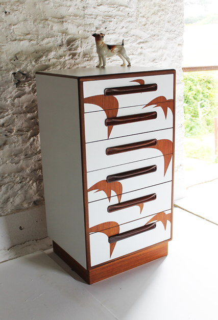 g-plan-chest-white-bird-design-colourful-furniture-by-lucy-turner