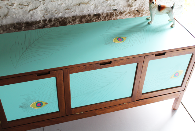 peacock-feather-turquiose-formica--sideboard-by-lucy-turner