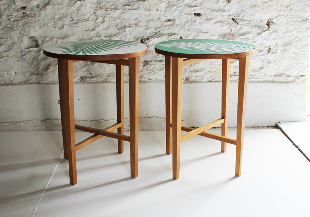 tropical-palm-leaf-formica-beech--tables-by-lucy-turner