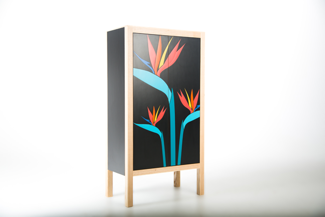 birds-of-paradise-modern--formica-tropical-cocktaill-cabinet-by-lucy-turner