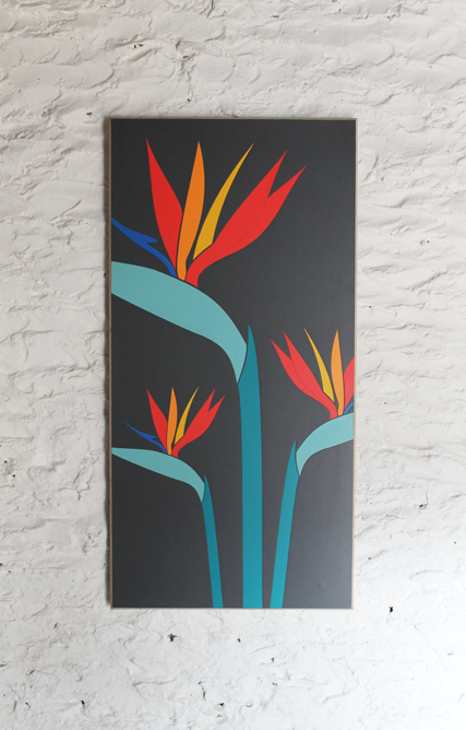 grey-wall-panel-birds-of-paradise-modern-marquetry