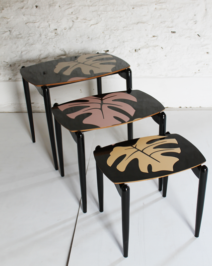 80's-black-nest-of-tropical-tables-formica-laser-cut-inlay