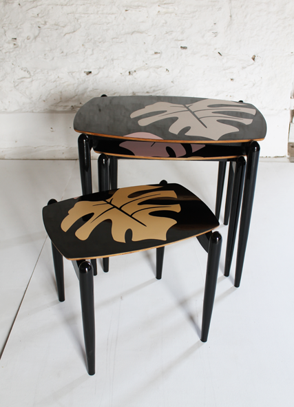 pink-black-gold-nest-of-tales-80's-tropical-furniture-