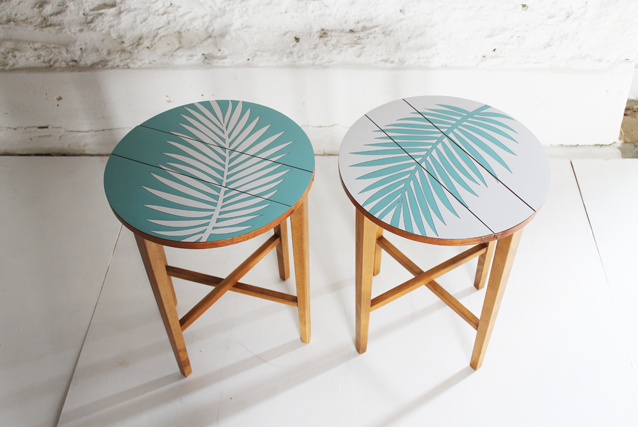 marina-and-white-formica-plam-leaf-tables-tropical-