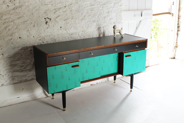 tropical-green-and-black-sideboard-pineapple-furniture