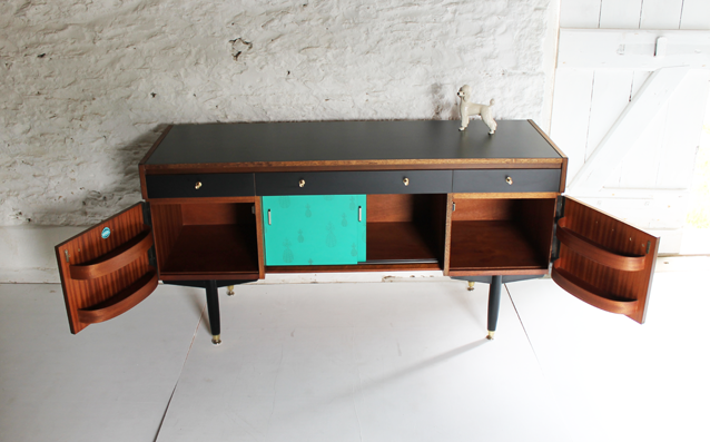 tropicalgreen-and-black-sideboard