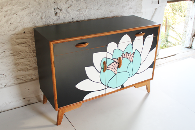 pink-watter-lily-lotus-flower-sideboard-furniture-lucy-turner