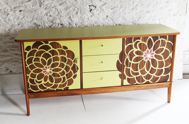 flower-green-sideboard-colourful-furniture-cornwall