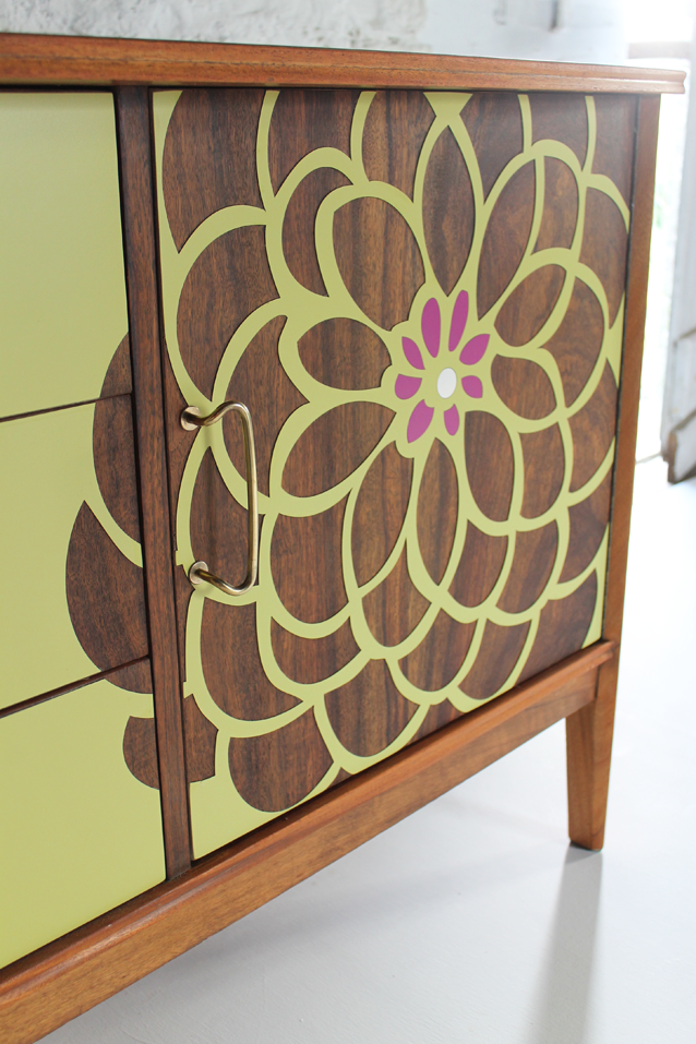 green-and-purple-room-magenta-lime-sideboard-teak