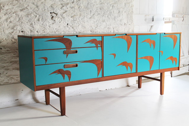 teak-and-turquiose-sideboard-colourful-furniture